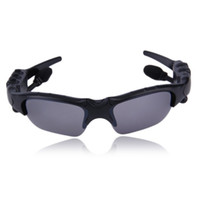Wholesale headphone mp3 player for sale - Group buy Sunglasses Bluetooth Headset Wireless Sports Headphones Sunglass Stereo Handsfree Earphones mp3 Music Player With Retail Package