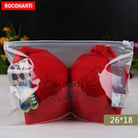 kunststoffbekleidung verpackung großhandel-100X Custom Logo Druck einseitig klar einseitig mattierte Plastiktüte Eva Apparel Package Bag mit Ziplock Slider