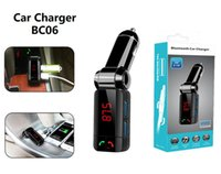Wholesale music car speaker mp3 player resale online - BC06 Bluetooth MP3 Car Charger Wireless Support TF Card Music Player Speaker FM Transmitter Mini Dual Ports Adapter For iphone Samsung