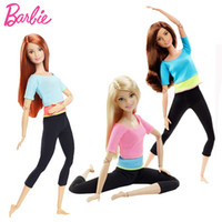 meninas modelo venda por atacado-Boneca barbie estilo movimento estilo original todas as articulações bonecas móveis modelo yoga toy para little baby presente de aniversário menina bonecas j190508