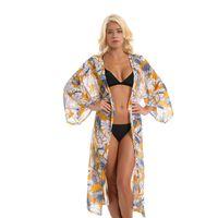 bikinis nouveaux styles achat en gros de-Nouvelle mode de style feuille style plage crème solaire cardigan bikini blouse maillot de bain Cover-Ups peut faire drop shipping