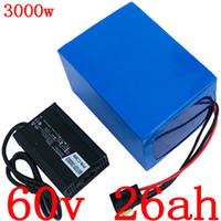 Lithium battery V 60 60V 60V 25AH 25AH electric bicycle battery 2000W 2500W 3000W electric scooter battery charger with 5A