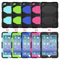 Wholesale heavy duty tablet pc for sale - Group buy For Ipad Air Case Heavy Duty Shockproof Full Body Rugged Hard PC Soft TPU Tablet protection Case for Ipad Pro