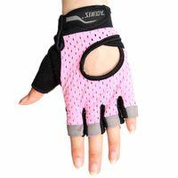 rosa fitnesshandschuhe groihandel-Rutschfeste Fitness Fahrradhandschuhe Taktischer Handschuh Atmungsaktive Halbfingerhandschuhe Fahrradhandschuhe Outdoor Sport Reitausrüstung Pink