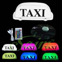 señales de techo del coche al por mayor-Taxi recargable Letrero de techo Luz de techo LED Luz de techo Control remoto magnético para accesorios de automóviles para taxistas