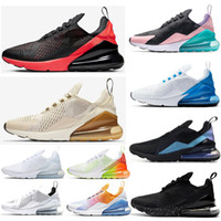 çiçek koşu ayakkabıları toptan satış-NIKE Air Max 270 Have A Nice Day Women Running shoes South Beach Blue Void Blooming Floral Firecracker University Gold Men Sports Sneaker