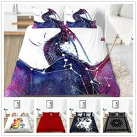 Wholesale western king size bedding resale online - Western Style Bedding Set Red Blue Duvet Cover Set King Twin Queen Size with Sheet Pillowcase Fashion of Quilt Cover Set