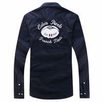 polo d'été à manches longues achat en gros de-chemises à manches longues pour hommes occasionnels Eden Park Casual tops Nice Quality Fashion Design chemises décontractées Taille M L XL XXL