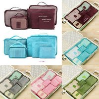 Wholesale clothes japan online - 6pcs Travel Organizer Bag Cosmetic Clothes Pouch Portable Storage Case Luggage Suitcase Chic Bags Unisex Use Travel Accessories