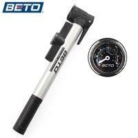 gösterge parantezleri toptan satış-BETO Bisiklet Pompası Mini Taşınabilir Bisiklet Yol Bisikleti MTB Alüminyum Alaşım Lastik Şişirme Hava Pompası Basınç Göstergesi Braketi Ile # 122366