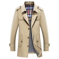 Men Trench Coat 2019 Winter Thicken Trench Jacket Men's Blazer Business Casual Windbreaker Outerwear Jacket Male Clothes 6XL 7XL