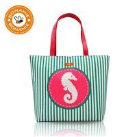 Wholesale anchor blue handbags resale online - BONAMIE Brand Design Women Handbag Girl Lady Stripe Waterproof Lining Beach Bag Female Fashion Ocean Mermaid Anchor Shoulder Bag