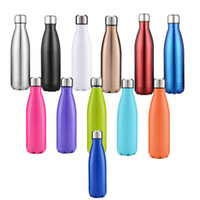 Wholesale vacuum types resale online - 17oz Water Bottle Stainless Steel Vacuum Flask Insulated Coffee Cup Travel Sport Water Vauum Outdoor Water Bottle A03