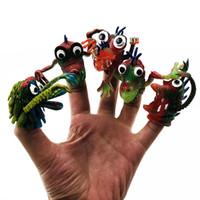 ingrosso set di bambole in silicone-5pcs / 1set nuovo creativo giocattolo divertente bambola strana impostare ragazzo favola simulazione dito dito animale del silicone per bambini