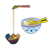 Wholesale japanese soup bowls for sale - Group buy Japanese Ramen Pin Japan food Lapel pin Asian Noodle Soup Bowl Enamel pin Food Lover Gifts