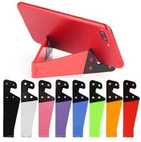 Wholesale stand holder for tablets resale online - Universal Foldable Mobile Cell Phone Stand Holder for Smartphone and Tablets Dual support V Shaped Folding Bracket For iphone samsung pc