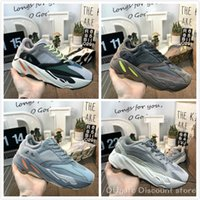 Wholesale pure tracks resale online - 700 Wave Runner static inertia pure gray men and women EG7487 running shoes Kanye West dad shoes luxury designer track and field shoes C28