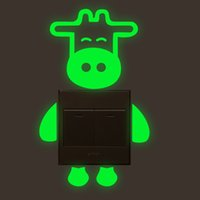 свечение панели оптовых-Cow Switch Luminous Panel Sticker Glow In The Dark Decor For Home Decoration Accessories  Fluorescent Mural Wall Art Decals