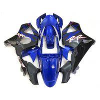 heiße verkleidung großhandel-Heißer Verkauf Verkleidungssatz für Honda CBR900RR 2002 2003 schwarz blaue Verkleidungen CBR 954RR 02 23 FD35
