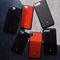 estuche rígido de pc al por mayor-para iphone xs max funda de lujo funda rígida de cuero MB para iphone x xr 7 8 plus 6 6s más cubierta vintage
