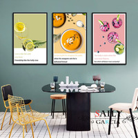Wholesale bar wall canvas art for sale - Group buy Kitchen Bar Room Decor Canvas Painting Nordic Minimalist Coffee foods Posters Modern Home Decoration Wall Art Print Pictures