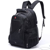 Wholesale laptop bag 17 inch women for sale - Group buy New Oxford Swiss Backpack Man External Charging Usb Inch Laptop Women Travel Rucksack Vintage School Bags Bagpack Mochila