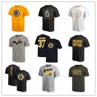 ingrosso pullover sport di marca-T-shirt uomo Boston Bruins di marca 2019 Moda uomo outdoor T-shirt manica corta a basso prezzo T-shirt da uomo Designer Hockey stampato Loghi