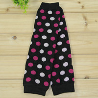 Wholesale crawling leggings resale online - Baby girl boy soft leg warmers cotton good quality leggings girl colorful polka dot stripe crawling socks styles