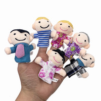 Wholesale cartoon animal finger puppet for sale - Group buy 6pcs Cute Cartoon Biological Animal Finger Puppet Plush Toys Child Baby Favor Dolls Tell Story Props Boys Girls Finger Puppets