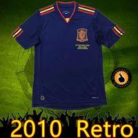 Wholesale soccer jersey shirt spain resale online - top Spain Fernando Torres Alonso Sergio Ramos Iniesta Retro soccer jerseys Classic Shirts Vintage football Shirt Camiseta Maill