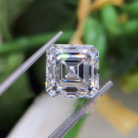 0.15CT to 7CT color D clarity FL asscher cut (her cut) moissanite diamond with certificate pass diamond test lab loose gemstone