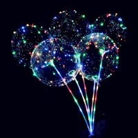 ballon dekorationen lichter groihandel-Romantische Party Dekoration Welle Ball weihnachtsbeleuchtung transparent LED Luftballon Lichter String Festival Dekoration Lichter 5 STÜCKE
