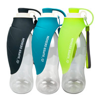 Wholesale water bottle fountain resale online - Pet Dog Water Cup Portable Kettle Outdoor Drinking Fountain Go Out Supplies Leaves Waters Bottle Hydration Gear Super Design cwC1