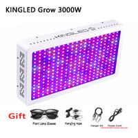kapalı alan büyümektedir toptan satış-LED Işık Büyümek 1500 w 2000 w 3000 w Bitkiler Lamba Kapalı Bitkiler için 410-730nm Lamba ve Çiçek Sera Çadır Büyümek