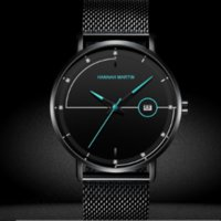 Wholesale platinum high end watches for sale - Group buy 2019 business quartz movement high end waterproof M watch mineral tempered glass mirror men s steel belt watch