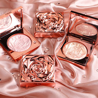 resaltador de brillo de cara al por mayor-Novo Highlighter del maquillaje facial Rose Paleta Kit contorno del rostro Shimmer Powder Base Iluminador Resalte Larga Duración Cosméticos