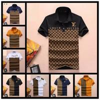 chemises pour hommes de marque achat en gros de-2019 Nouveaux Hommes Designers Polos Hommes Hauts TShirt Hommes Vêtements Marque Luxueuse Broderie Chemise Hommes Vêtements Taille Avec M-3XL Streetwear