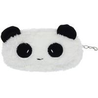 ingrosso panda borsa della moneta carina-portamonete Portafogli da donna Cute Plush Panda Pen Pencil Case Cosmetic Makeup Bag Portamonete Portafoglio * 0.35