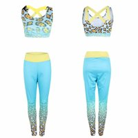 Wholesale sexy athletic pants for sale - Group buy Women Sexy Casual Vest Tops Leggings Female Sportswear Yogawear Sets Runningwear Fitness Athletic Bra Pants Sets