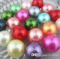 New 100PCS lot Mixed random color 20mm Imitation pearls Loose bead Acrylic Pearl Beads DIY Resin hot Spacer for Jewelry h25652 x82