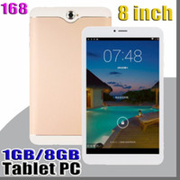 zoll-bildschirm phablet groihandel-168 8-Zoll-Dual-SIM 3G Tablet PC IPS-Schirm MTK6582 Quad-Core-1GB / 8GB Android 4.4 phablet PDA