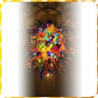 ingrosso luce di mini dimensioni ha condotto-Lampadario in vetro soffiato a mano in stile mini Chihuly Modern Art Deco Italia Progettato in vetro di Murano Lampade a sospensione per arredamento camera da letto