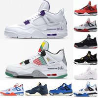 Wholesale grey satin shoes resale online - 4 s Basketball Shoes Wheat Court Purple Pine Green Do The Right Thing What The Travis Loyal Blue Mens Sport Sneakers Designer Shoes