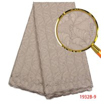 ingrosso tessuti in pizzo lucido-Ultime tessuto africano del merletto Tessuto ricamato polacco del merletto Materiali di alta qualità del merletto svizzero per gli uomini con le pietre PGC1932B