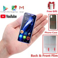 Wholesale sim card support wcdma online – Luxury Gold Pocket Mini Android Smartphone K TOUCH I9S MTK6580 GB Celular GPS WIFI Face ID Support Google play Super Small Mobile Phones
