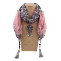 kıyafetler mücevherat toptan satış-Takı Püsküller Kolye Eşarp Kolye Bayanlar Moda Bufandas Kadınlar Için Tasarımcı Pamuk Atkılar Giyim Aksesuarları