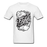 mma fight tops al por mayor-MMA FTG Fight Cool T Shirt 100% algodón Hombres Homme Moda manga corta Tops Camisetas Death Struggle Wrestle camiseta hombres