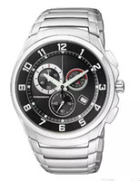 Wholesale watch made japan resale online - Man Quartz Watch Japan Made ECO DRIVE AT0690 mm Chrono Sapphire Xpress Black Dial Wristwatch AT0690 E A L