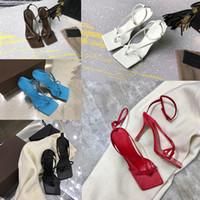 pantoffeln für hochzeitsfeier großhandel-Luxus Frauen Sandale Designer Flip Flop Nappa Traum Stretch Sandalen Damenmode Party Hausschuhe Hochzeit Frau High Heels