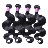 Wholesale 34 inch cambodian virgin hair for sale - Group buy Brazilian Virgin Hair Straight Deep Loose Wave Curly Human Hair Bundles Extensions Mongolian Hair Unprocessed Bundles Weave